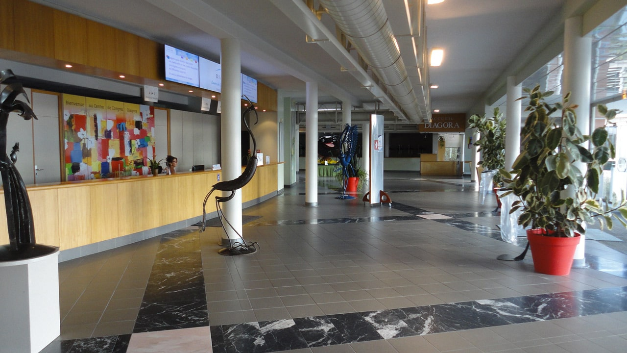 Main Reception Hall and Desk